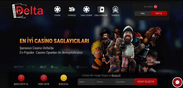 Casino Delta Ana Sayfa Görüntüsü