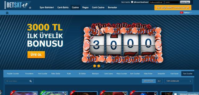 Betsat Casino Sayfası Görüntüsü