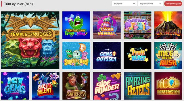 Bahisnow Casino Sayfası Görüntüsü