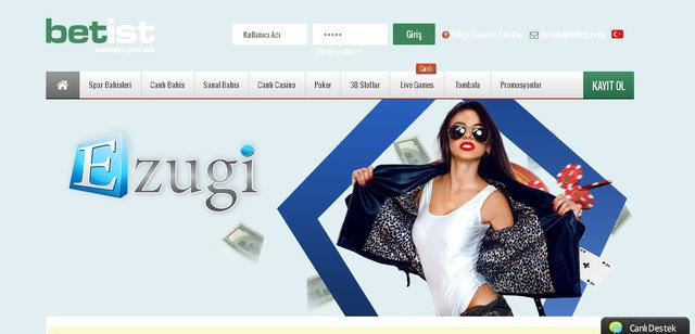 Betist Canlı Casino Sayfası Görüntüsü