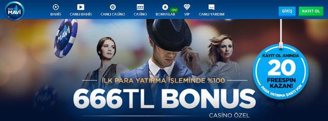 Baymavi casino bonusu
