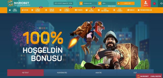 Mariobet Casino Sayfası Görüntüsü