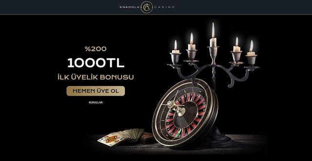 Anadolu Casino Ana Sayfa Görünümü