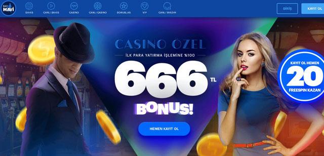 Baymavi Casino Sayfası Görüntüsü