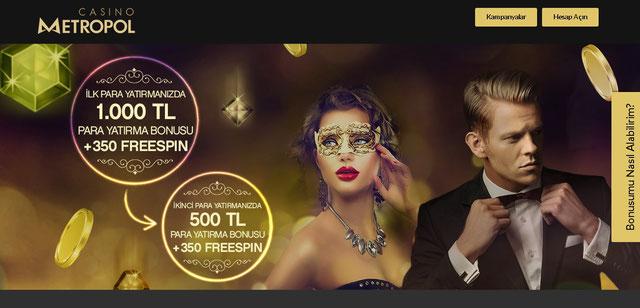 Casinometropol Ana Sayfa Görüntüsü