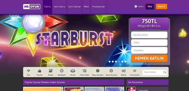 Mr Oyun Ana Sayfa Görüntüsü