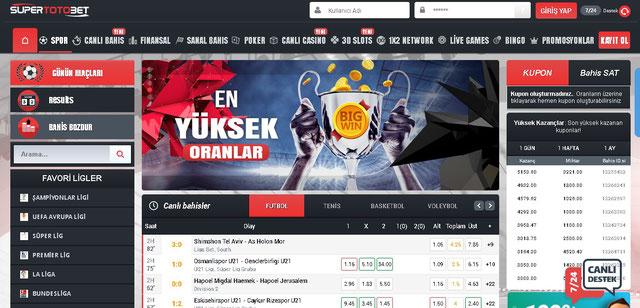 Süpertotobet Ana Sayfa Görüntüsü