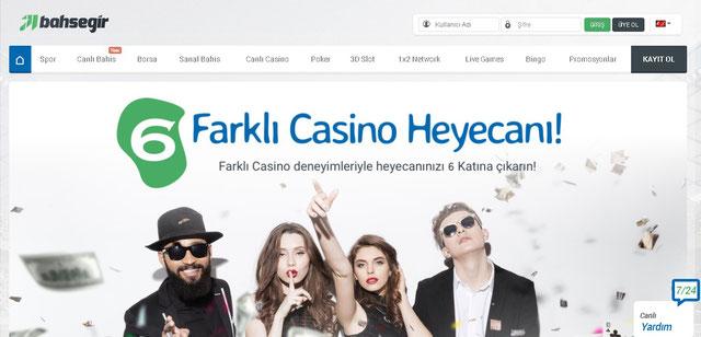 Bahsegir Canlı Casino Sayfası Görüntüsü
