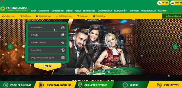 PashaGaming Ana Sayfa Görüntüsü