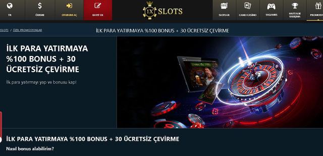 1xSlot Bonuslar Sayfası Görüntüsü