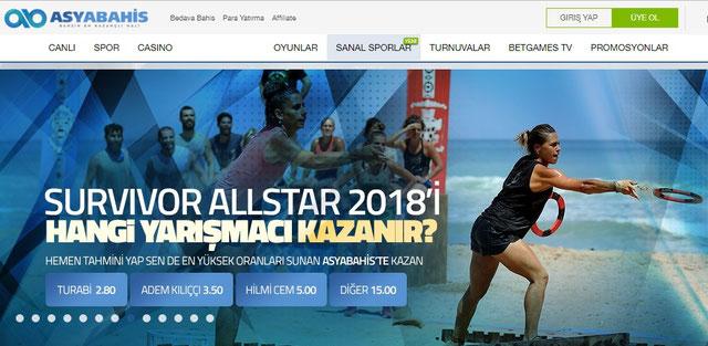 Asyabahis Ana Sayfa Görüntüsü