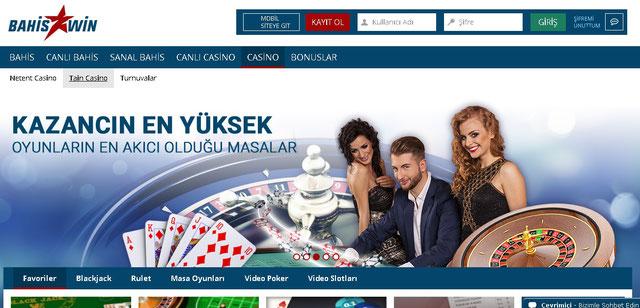 Bahiswin Casino Sayfası Görüntüsü