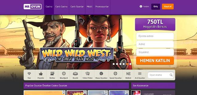 Mr Oyun Casino Sayfası Görüntüsü