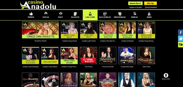 Anadolu Casino Canlı Casino