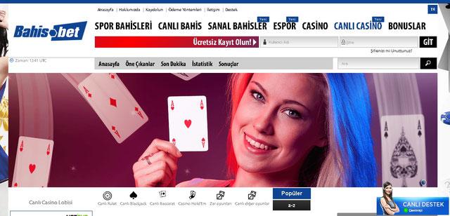Bahis.bet Canlı Casino Sayfası Görüntüsü