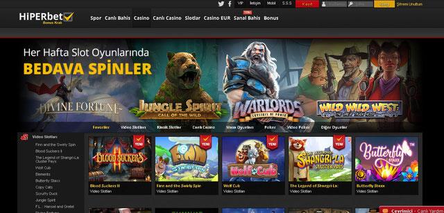 Hiperbet Casino Sayfası Görüntüsü
