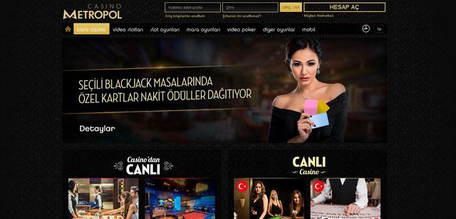 Casinometropol Canlı Casino Sayfası Görüntüsü
