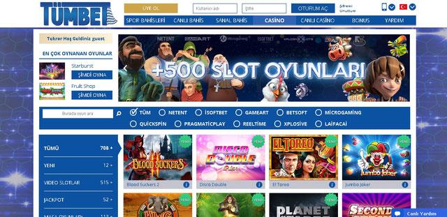 Tümbet Casino Ekran Görüntüsü
