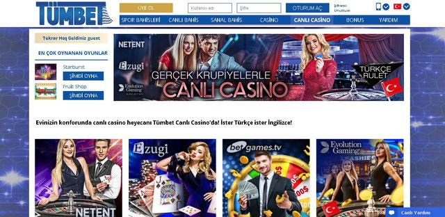 Tümbet Canlı Casino Ekran Görüntüsü