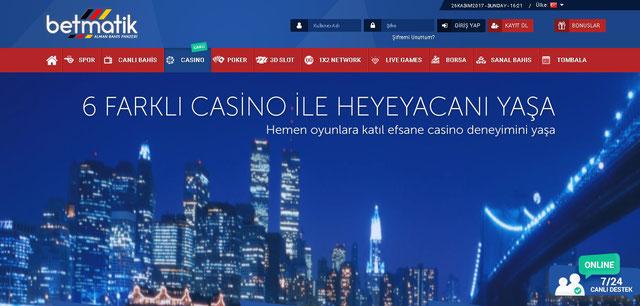 Betmatik Canlı Casino Sayfası Görüntüsü