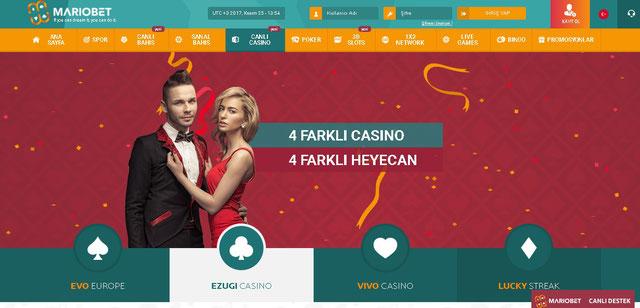 Mariobet Canlı Casino Sayfası Görüntüsü