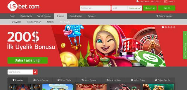 LSbet Casino Sayfası Görüntüsü