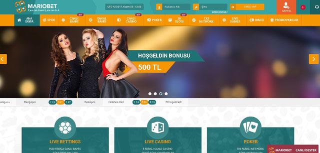 Mariobet Ana Sayfa Görüntüsü