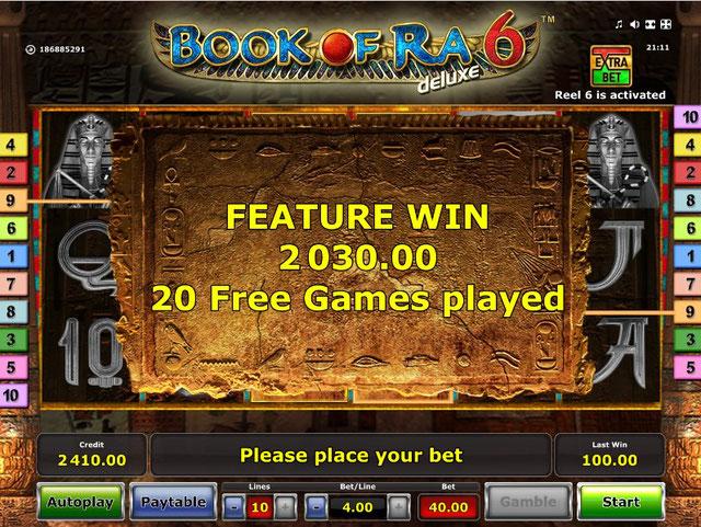 Book Of Ra 6 Free Games Kazançları