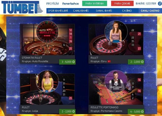 Tümbet Ezugi Canlı Casino