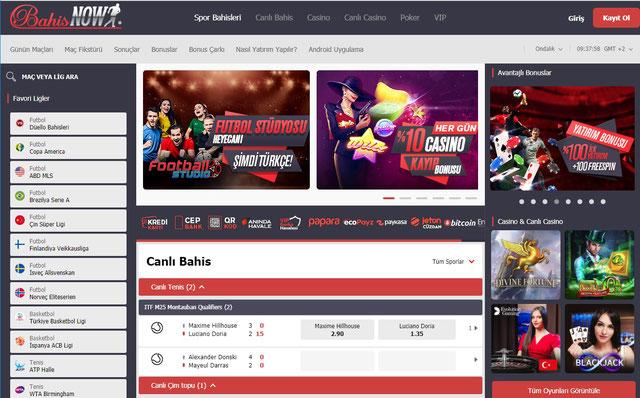 Bahisnow Ana Sayfa Görüntüsü
