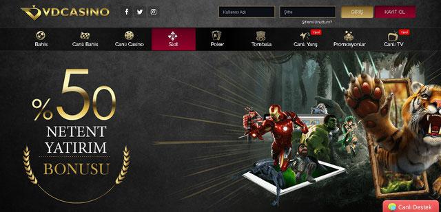 Vdcasino Casino Sayfası Görüntüsü