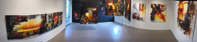 Eingetaucht, Dorothee Impelmann, Industrie-Malerin, Duisburg, tOG, take OFF GALLERY, Galerie, Düsseldorf, NRW, Kunstraum