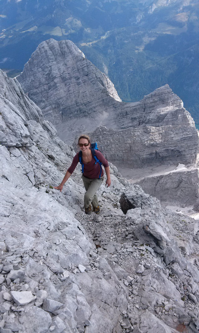 Am Watzmann: Wiederroute auf dem Weg zur Mittelspitze