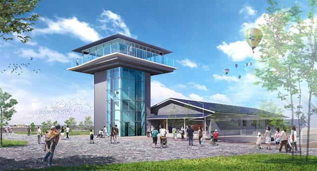 東よか干潟ビジターセンター「ひがさす」完成予想図:佐賀市役所公式サイト掲載