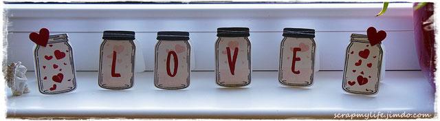 Stampin up - Framelits Einweckgläser - Glasklare Grüße - Layered Letters Alphabet - Perpetula Birthday Calender