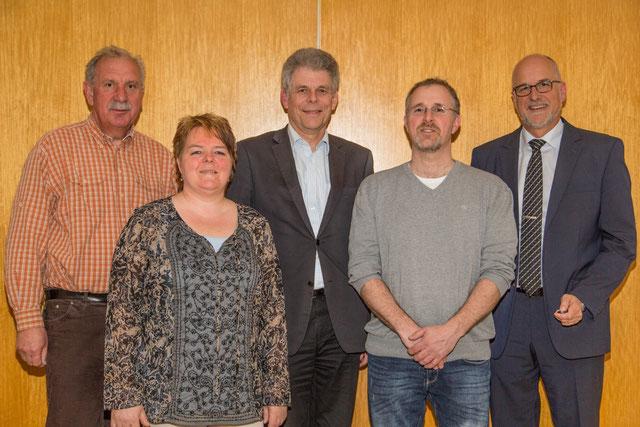 Vorstand v.r.: Eicke, Simonsen, Thießen, Schulz, Hansen