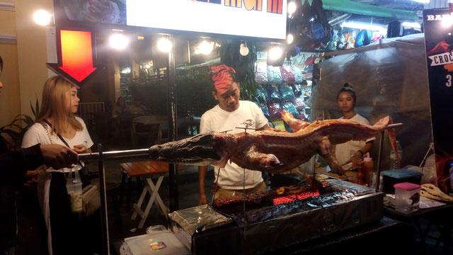 Marché nocturne rue Khao San