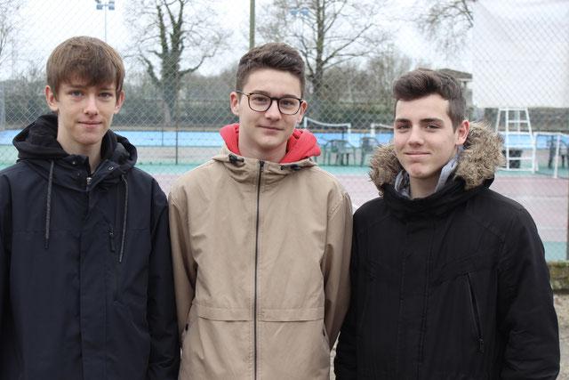 Raphaël, Mattieu et Virgile ont participé au stage Ligue en février.