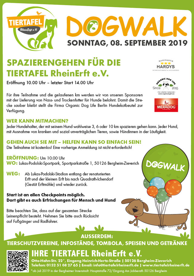 DogWalk Flyer 2019 Grafik: Anja Giltjes