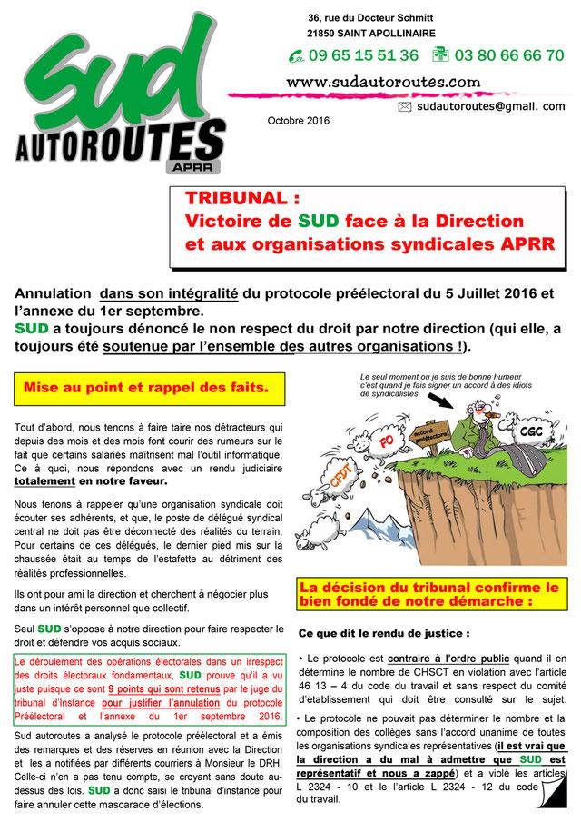 Tract protocole pré-électoral SUD Autoroutes APRR