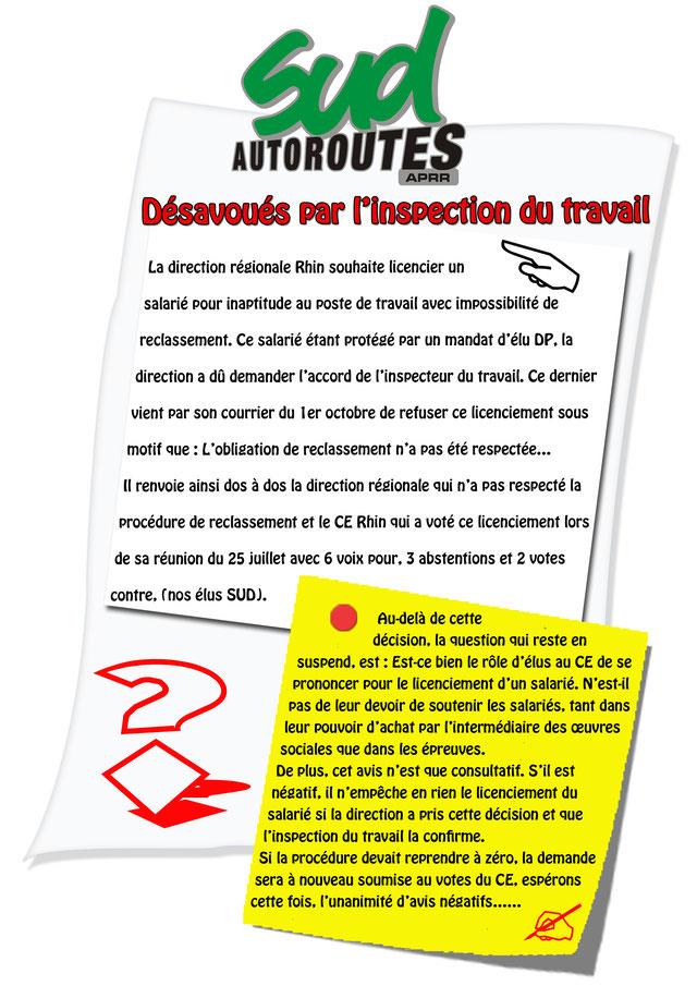 Licenciements SUD Autoroutes APRR