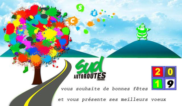 Meilleurs vœux 2019 SUD Autoroutes APRR