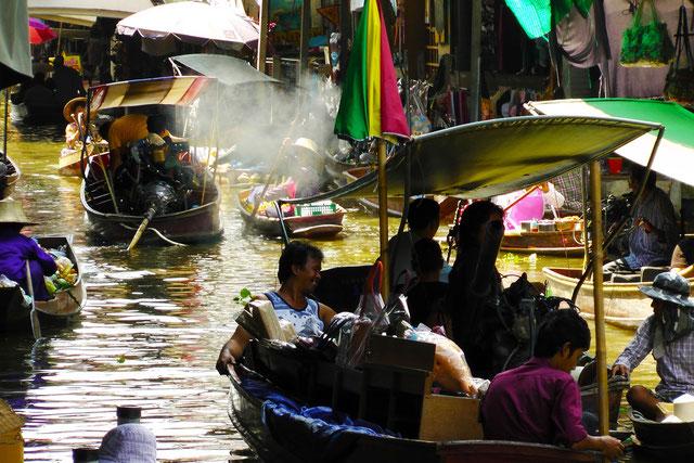 Ayutthaya Thailand Floating Market