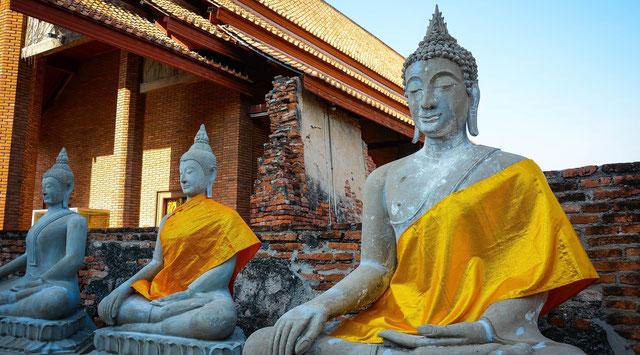 Ayutthaya Thailand Wat Phra Mahathat Tempel Wat Yai Chai Mang Khon