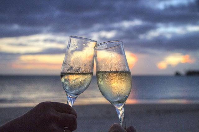 wedding hochzeit sekt strand beach curacao