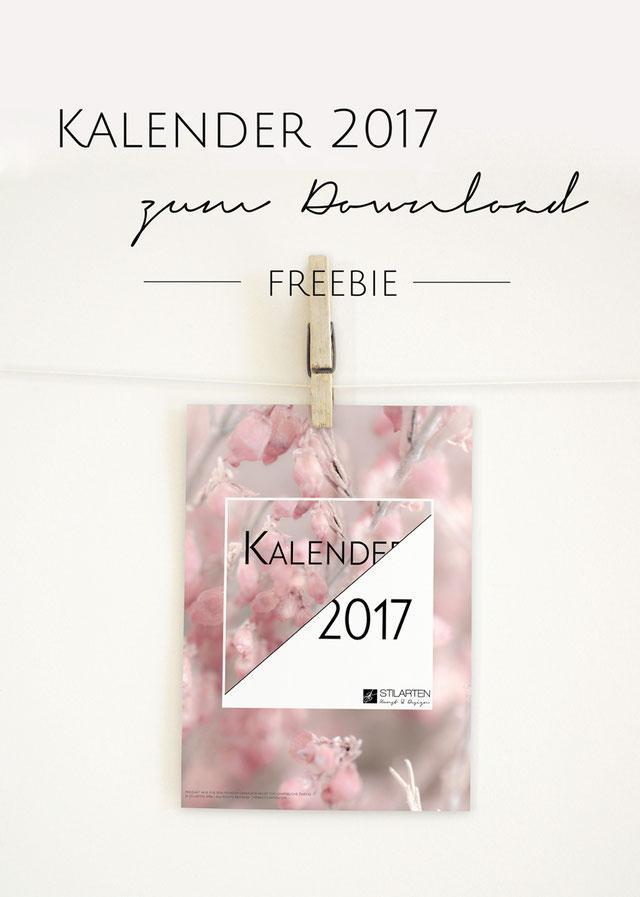Kostenloser Kalender 2017 zum Download