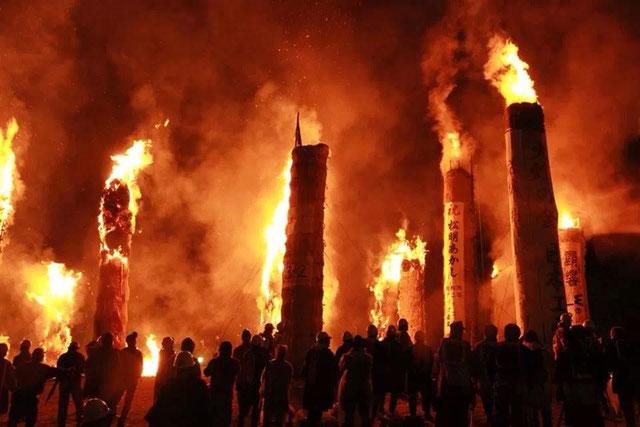 2013/11/09日本最大火祭り『福島県須賀川市松明あかし』