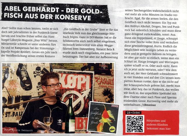 Lars Gebhardt Ein Goldfisch in der Grube Punkrock! Magazin 03/15