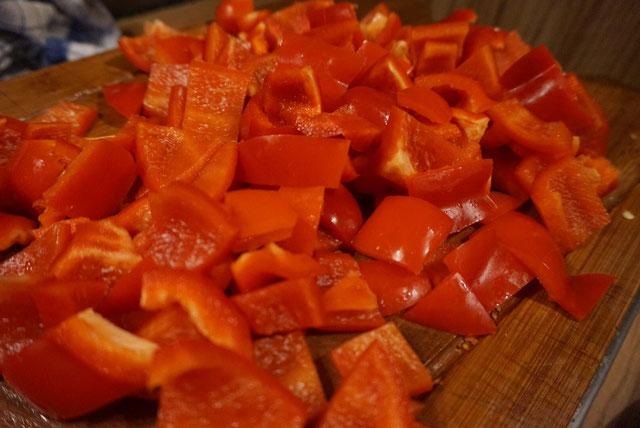 Vegetarische Paprikasuppe