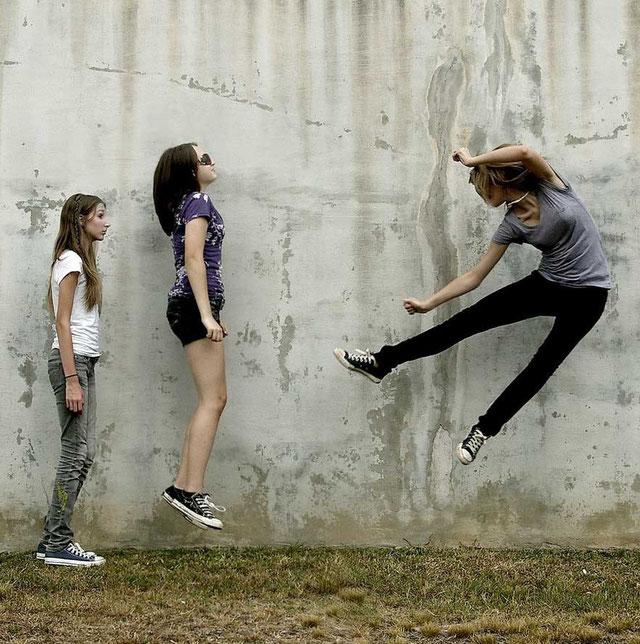 как сфотографировать человека при прыжке дублем